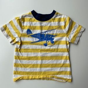 Hanna Andersson | airplane striped t shirt